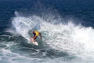 Sean Moody surfing in the Triple Crown Hawaii Editorial Photography