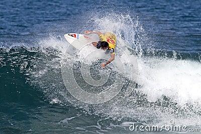 Sean Moody surfing in the Triple Crown Hawaii Editorial Photo