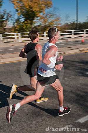 Sean Wade & Adam Bohach 2010 Twin Cities Marathon Editorial Photo
