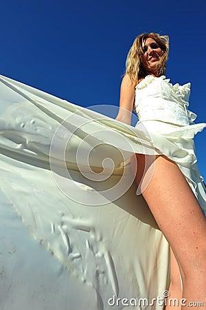 Seansual bride portrait