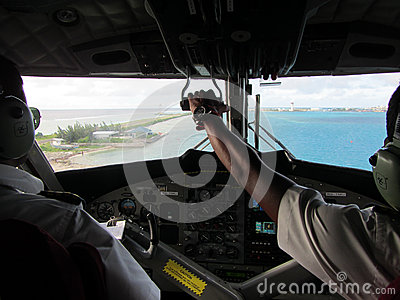 Seaplane Cockpit Editorial Image