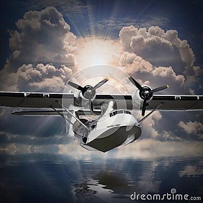 The seaplane.