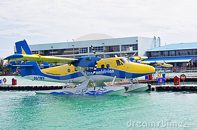Seaplane ready to take off Editorial Stock Photo