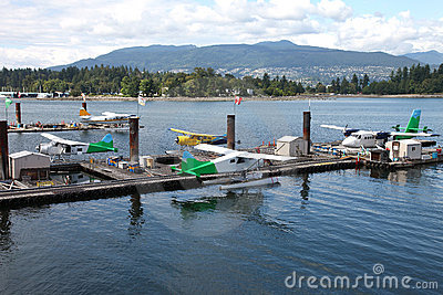 Seaplanes Sightseeing tours Vancouver BC., Canada.