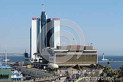 Seaport buildings odessa Editorial Stock Photo