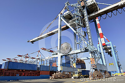 Seaport Freight and Shipping Cargo