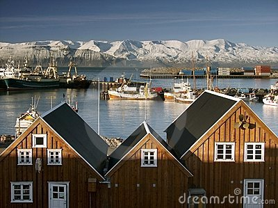 Seaport at Iceland.