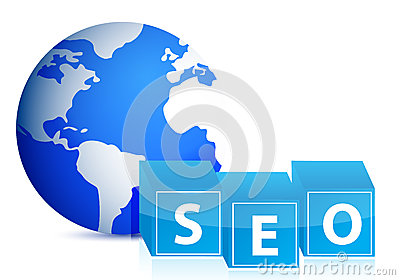 Search engine optimization globe illustration