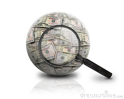 Search Finance Money Ball on White
