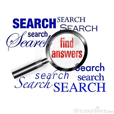 Search find answers magnify glass