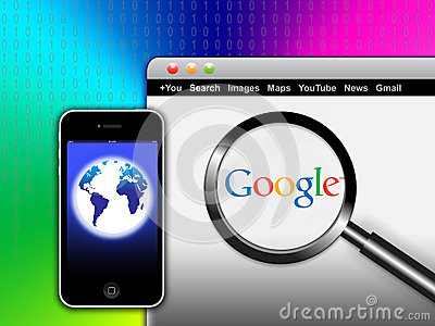 Search Google Network from your mobile Editorial Image