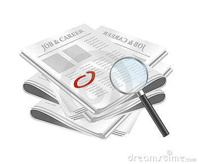Search for job on classified ads