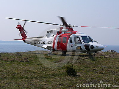 Search and rescue helicopter Editorial Photography