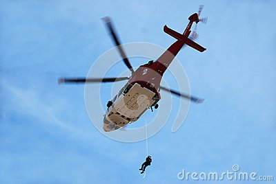Search and Rescue Helicopter Editorial Stock Image
