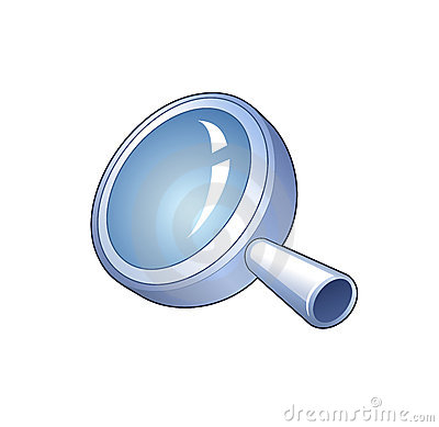 SEARCH SYMBOL - DETAILED ICON OF MAGNIFYING GLASS (click image to zoom)