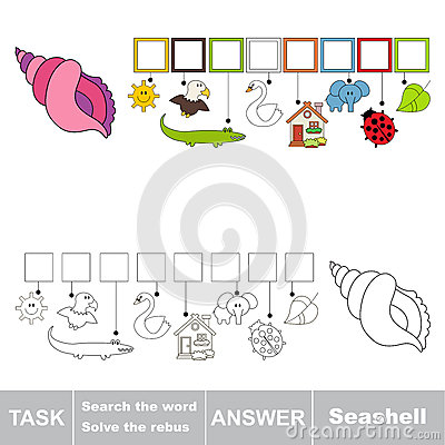 Free Search The Hidden Word, The Simple Educational Kid Game. Royalty Free Stock Photo - 89807275