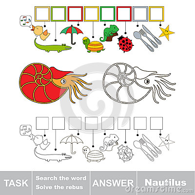 Free Search The Hidden Word, The Simple Educational Kid Game. Stock Image - 89829731