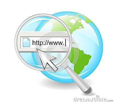 Search the Web Internet on Globe
