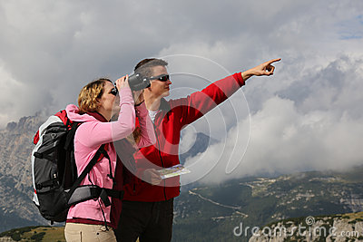 Searching the destination and showing the direction in the mount