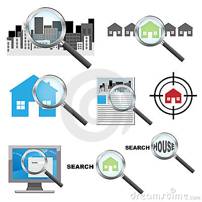 Searching house icons