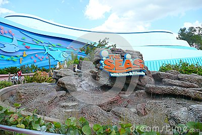 The Seas with Nemo and Friends Entrance sign Editorial Stock Photo