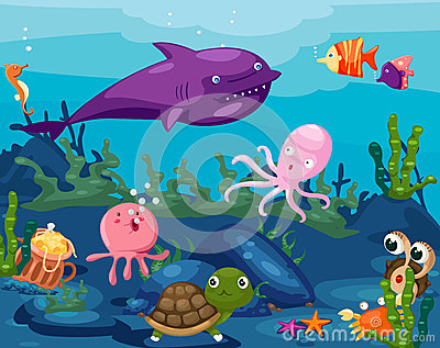 Seascape Animals Life Underwater Royalty Free Stock Images ...