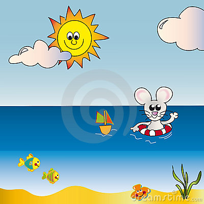 Free Seascape Cartoon Royalty Free Stock Images - 6887539