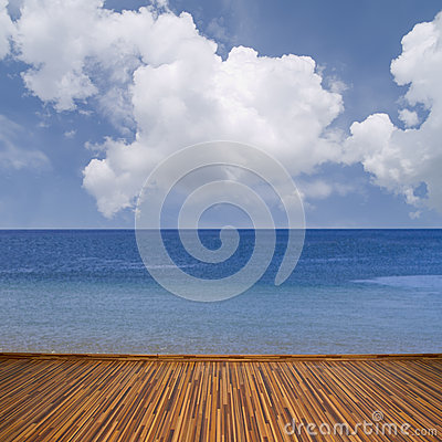 Seascape with clouds