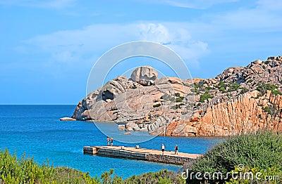 The seascape with granite rocks