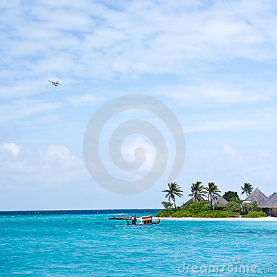 Free Seascape Of Maldives Resort Royalty Free Stock Images - 17032619