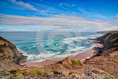 Seascape shore Vicentina.