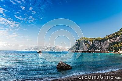 Seascape shot on the island of Capri.