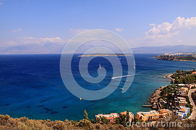 Seascape view village Agios Nikolaos