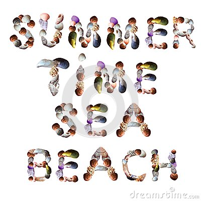 Free Seashell Font For Summer Holiday Royalty Free Stock Photography - 71436617