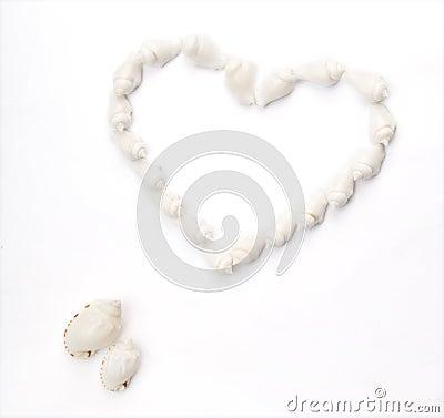 Free Seashell Heart Shape Royalty Free Stock Photo - 5361375