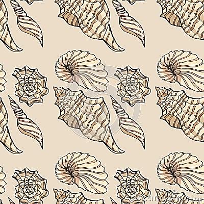 Free Seashell Pattern12 Royalty Free Stock Photo - 72829435