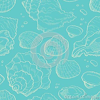 Free Seashell Seamless Stock Photography - 30295002