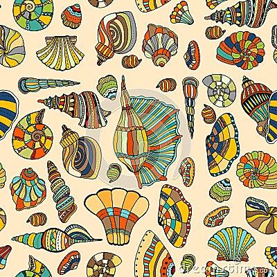 Free Seashell Seamless Pattern Stock Photo - 67431060