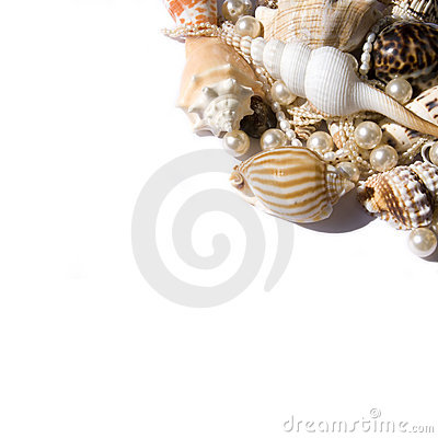 Free Seashell With Pearls Royalty Free Stock Images - 10708859