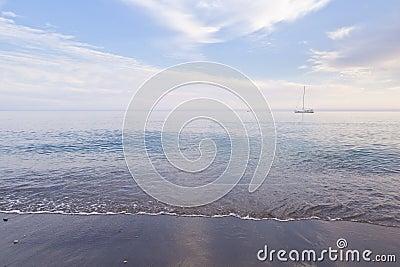 Seashore and boat