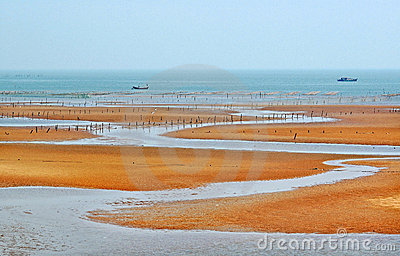 Seashore of Liangyungang of China