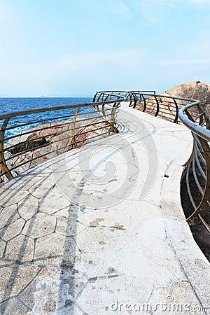 Seashore plank road
