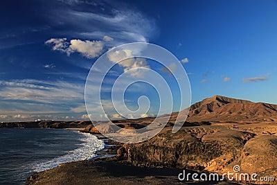 Seashore at sunset