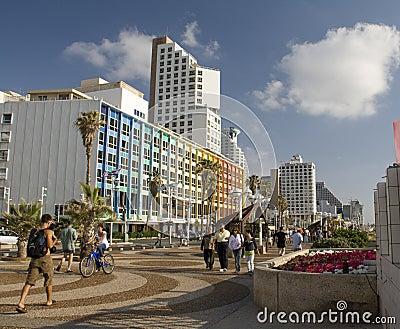 Seashore in Tel-Aviv Editorial Photography