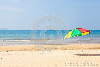 Seaside beach umbrella