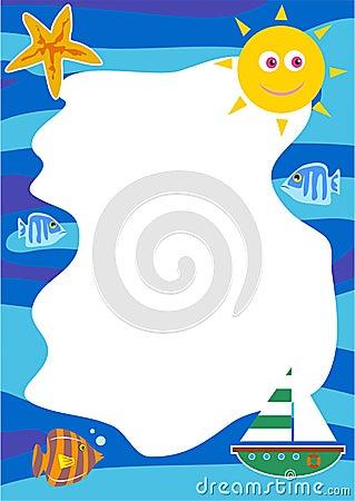 Free Seaside Border Stock Image - 100141