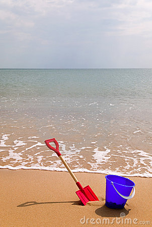 Seaside bucket and spade
