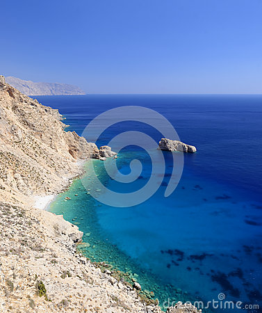 Seaside cliffs Agia Anna Bay Amorgos