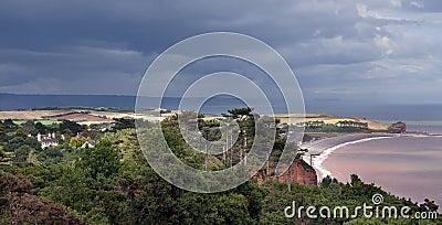 Seaside countryside in England