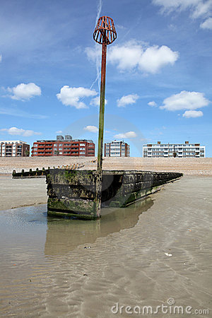 Free Seaside East Sussex Houses Water Royalty Free Stock Photography - 14424747
